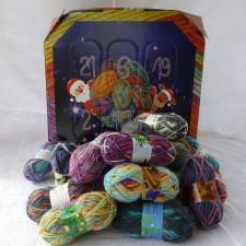 An advent calendar with mini yarn