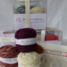 A mini gift of 4 25g balls of Gorgeous Yarns and 4 patterns, beautifully wrapped.