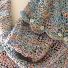 Knitted shawl pattern from Gorgeous Yarns