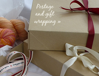Postage and packing, gift wrapping