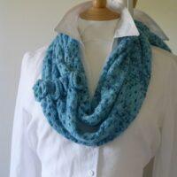 Lace stitch cowl
