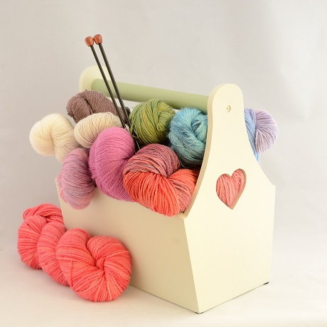 Basket Full of Gorgeous Yarns