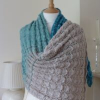 A knitted lace shawl