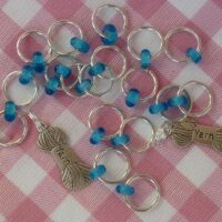 Silver loop and bead stitch markers