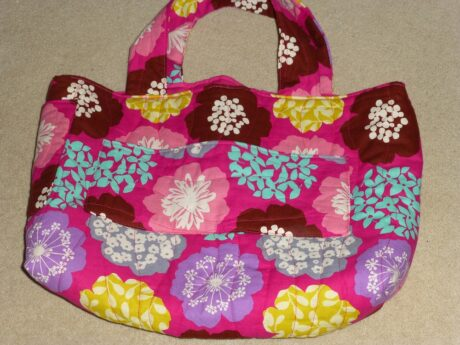 Pink fabric project bag