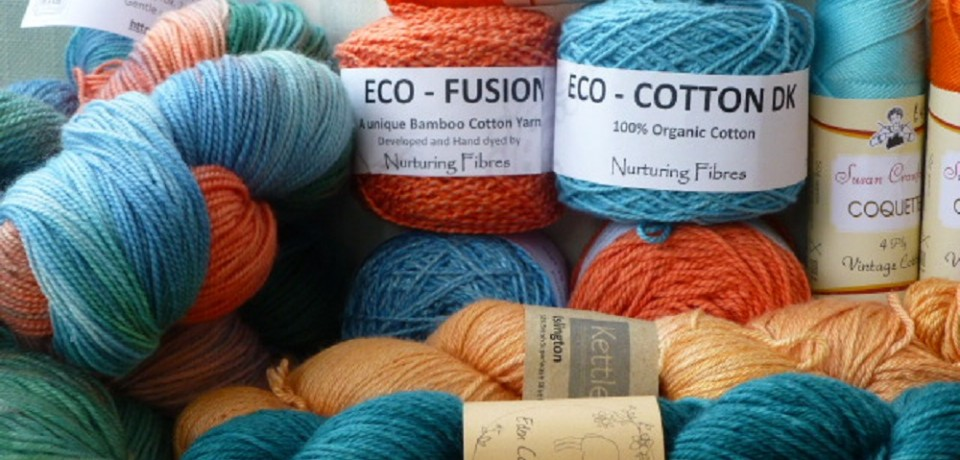 Bright colours of yarn