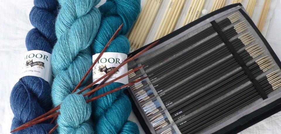Sock yarn and DPNs