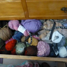 Stash chest of drawers, rainy day sorting
