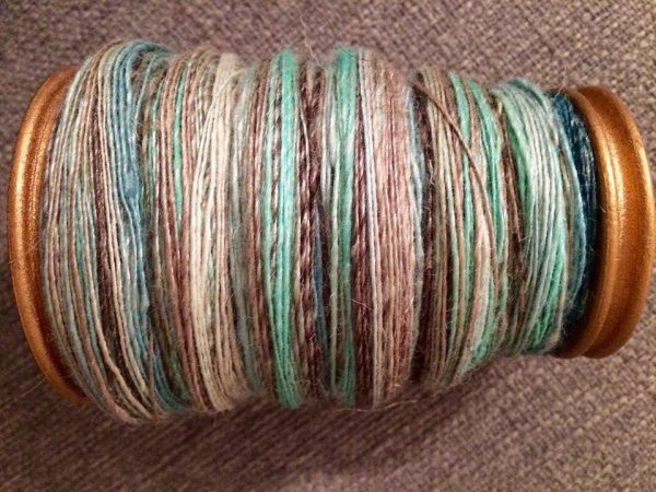 Hand dyed and lovely, just spun.