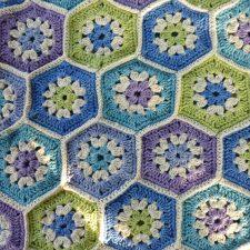 Crochet Hex picnic blanket