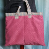 watered silk effect fabric bag