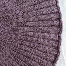 Circular shrug stitch detail